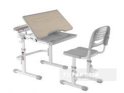 Комплект парта и стул-трансформеры FunDesk Sorriso Grey