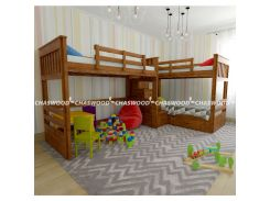Двухъярусная кровать Савана трио