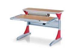 Детский стол Mealux Harvard BG/R+ box - столешница бук / накладки на ножках красные