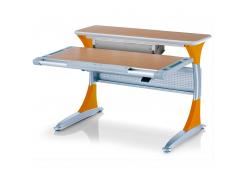 Детский стол Mealux Harvard BG/Y+ box - столешница бук / накладки на ножках оранжевые