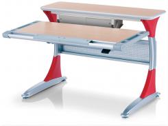 Детский стол Mealux Harvard MG/R+ box - столешница клен / накладки на ножках красные
