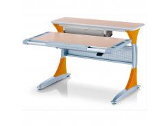 Детский стол Mealux Harvard MG/Y+ box - столешница клен / накладки на ножках оранжевые