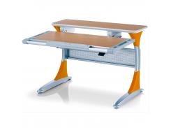 Детский стол Mealux Harvard BG/Y - столешница бук / накладки на ножках оранжевые