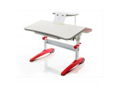 Детский стол Mealux Ferrari (с полкой) - столешница береза / цвет пластика красный