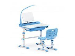 Комплект парта и стульчик Evo-kids Evo-17 (с лампой) голубой