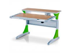 Детский стол Mealux Harvard BG/Z - столешница бук / накладки на ножках зеленые