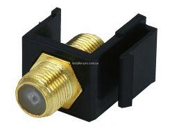 MP6544 Keystone Jack - модуль тип F (черный)