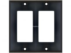 WP-DXPBK Декоративная настенная панель, 2 Gang, наружное крепление, цвет - черный
