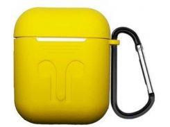 Силиконовый чехол, с карабином- для Air Pods -жёлтый