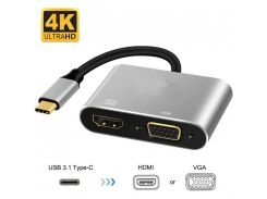 Переходник Extradigital Type-C to HDMI / VGA