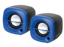 Акустика Omega 2.0 OG-15 6W Blue колонка USB для ноутбука и ПК