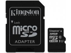 Карта памяти Kingston Canvas Select 32Gb microSDHC (UHS-1) class 10 SDCS/32GB (R-80MB/s) +adapter SD