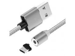 Магнитный кабель USB - Micro USB  Magnetic for Micro Silver