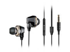 Стерео наушники с микрофоном BASEUS PREMIUM Encok H10 Dual Moving-coil Black