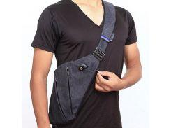 Плечевая сумка под мышку для скрытого ношения (черный)