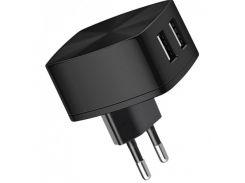 Зарядка сетевая СЗУ HOCO C26A Mighty Power 2USB/3,4A Black