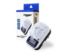 Универсальная зарядка PROFI LCD+USB жабка