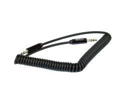 Кабель  AUX Аудио кабель Belkin пружина (3.5x3.5) 2m Black
