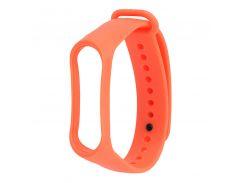Ремешок для фитнес браслета Xiaomi Mi Band 3 \ 4 оранжевый