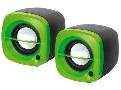 Акустика Omega 2.0 OG-15 6W green колонка USB для ноутбука и ПК