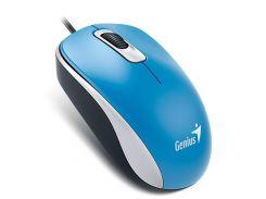 Мышь компьютерная проводная Genius DX-110 USB, Blue