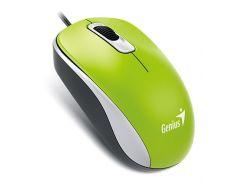Мышь компьютерная проводная Genius DX-110 USB, Green