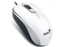 Мышь компьютерная проводная Genius DX-110 USB, White