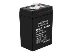 Cвинцово-кислотный аккумулятор АКБ LogicPower LPM 6v-5.2 AH на весы (4158)