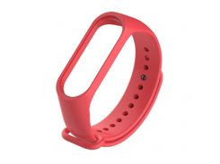 Ремешок для фитнес браслета Xiaomi Mi Band 3 \ 4 красный