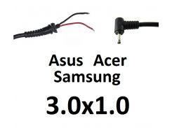 Кабель для блока питания ноутбука Asus\Acer\Samsung 3.0x1.0 (до 3.5a) (L-type)