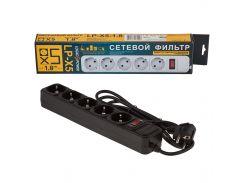 Сетевой фильтр LogicPower 5 розеток 1,8 м черный (LP-X5)