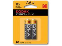 Батарейка KODAK XTRALIFE АА \ LR06 блистер 1x2 шт.  Alkaline  пальчик