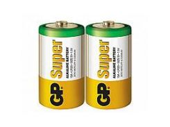 Батарейка GP Super Alkaline D \ LR20 S2 уп.вак 2шт