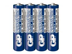 Батарейка GP PowerPlus синяя R03 \ AAA, 1.5V  вак.уп*4шт  Модель: 24C-S2, мизинчиковая
