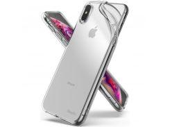 Чехол Ringke Air для Apple iPhone XS Max (Clear) (Slot card case+Lanyard strap)
