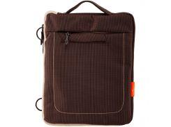 "Сумка для iPad, планшета LogicFox LF016-LG до 9.7"" полиэстер, серо-коричневый (2443)"