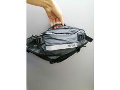 Рюкзак-сумка на пояс Aspor  Universal (waterproof) бананка, серый