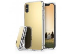 Чехол Ringke Fusion Mirror для Apple iPhone X Royal Gold (RCA4391)