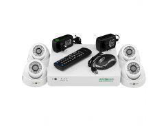 Комплект видеонаблюдения Green Vision GV-K-G01/04 720Р внутренее купольные камеры (4956)