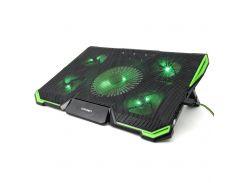 """Охолоджуюча підставка під ноутбук CROWN CMLS-K332 Green Для ігрових ноутбуків до 19 """""""