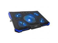 """Охолоджуюча підставка під ноутбук CROWN CMLS-K331 Blue Для ігрових ноутбуків до 19 """""""
