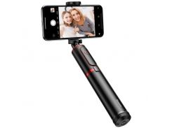 Трипод для телефона, монопод Baseus Fully Folding Selfie Stick Black+red (SUDYZP-D19) Bluetooth
