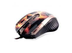 """Провідний ігровий маніпулятор (мишка) CROWN CMXG-607 з малюнком """"вогонь"""""""