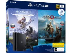 Консоль Sony PlayStation 4 Pro 1TB Black (God of War & Horizon Zero Dawn Complete Edition) (9994602)