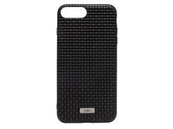 Чехол Kajsa Weaving Pattern Series Genuine Leather (Black) для iPhone 7 Plus/8 Plus