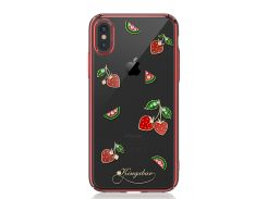 Чехол Kingxbar Tropical Series (Strawberry Red frame) для iPhone Xs