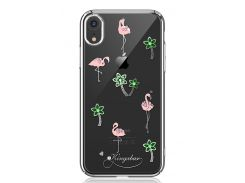 Чехол Kingxbar Tropical Series (Flamingo Silver frame) для iPhone Xs