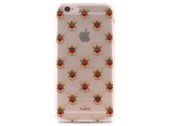 Чехол-накладка Puro для iPhone 6/6S Сhristmas Reindeer (прозрачный) IPC647XMASREINDEER