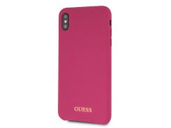 Чехол Guess Silicone (Pink) GUHCPXSLSAPI для iPhone X