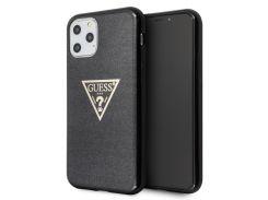 Чехол Guess TPU Solid Glitter Triangle (Black) GUHCN58SGTLBK для iPhone 11 Pro